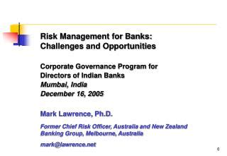 Corporate governance in indian banks thesis